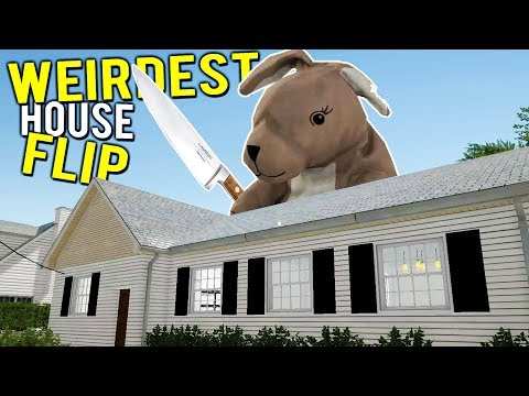 FLIPPING THE EVIL BUNNY HOUSE! Weirdest House Flip - House Flipper Beta Gameplay