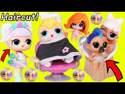 Unicorn LOL Surprise Dolls Hair Salon for McDonalds Toys R Us Lil Punk Boi Sisters Wedding JOJO SIWA