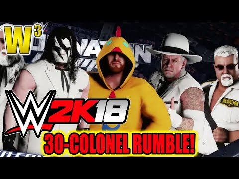 30-Colonel Royal Rumble! [WWE2K18] | Wrestling With Wregret