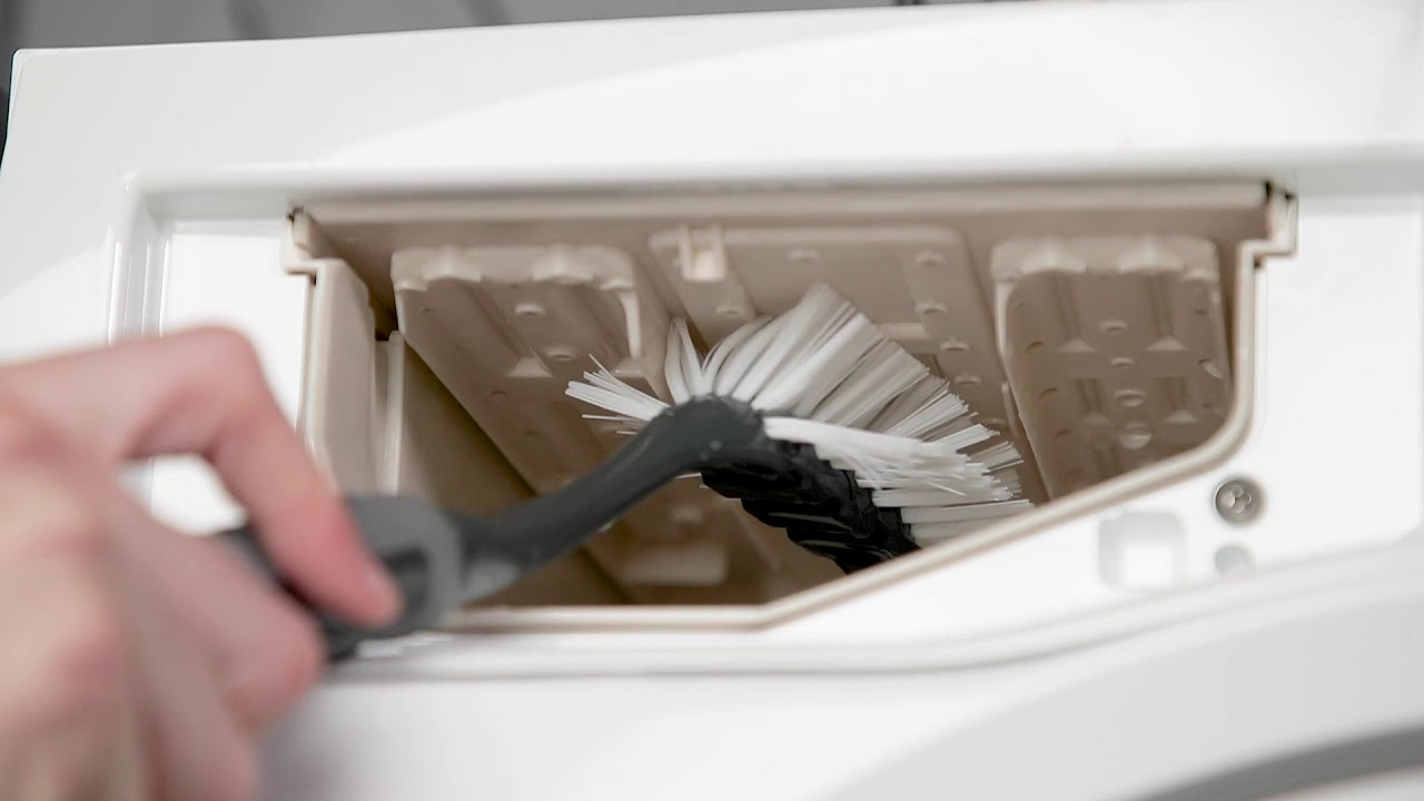 How To Clean The Detergent Drawer On Your Washing Machine | AEG - YouTube