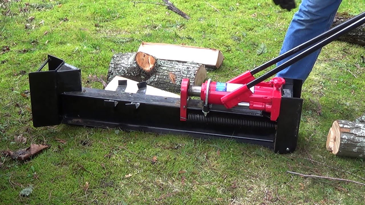 harbor freight 10 ton manual log splitter review youtube rh youtube com Log Splitter Parts Craftsman 27 Ton Log Splitter
