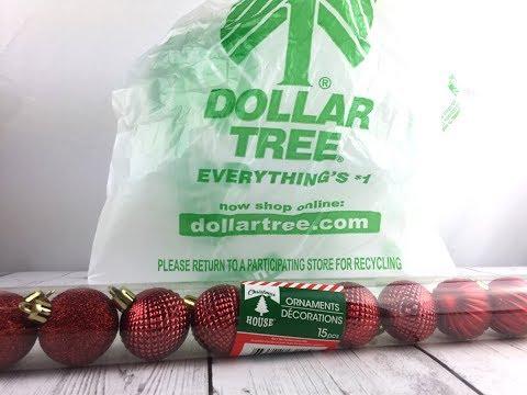 Christmas Ornament Centerpieces - Dollar Tree DIY
