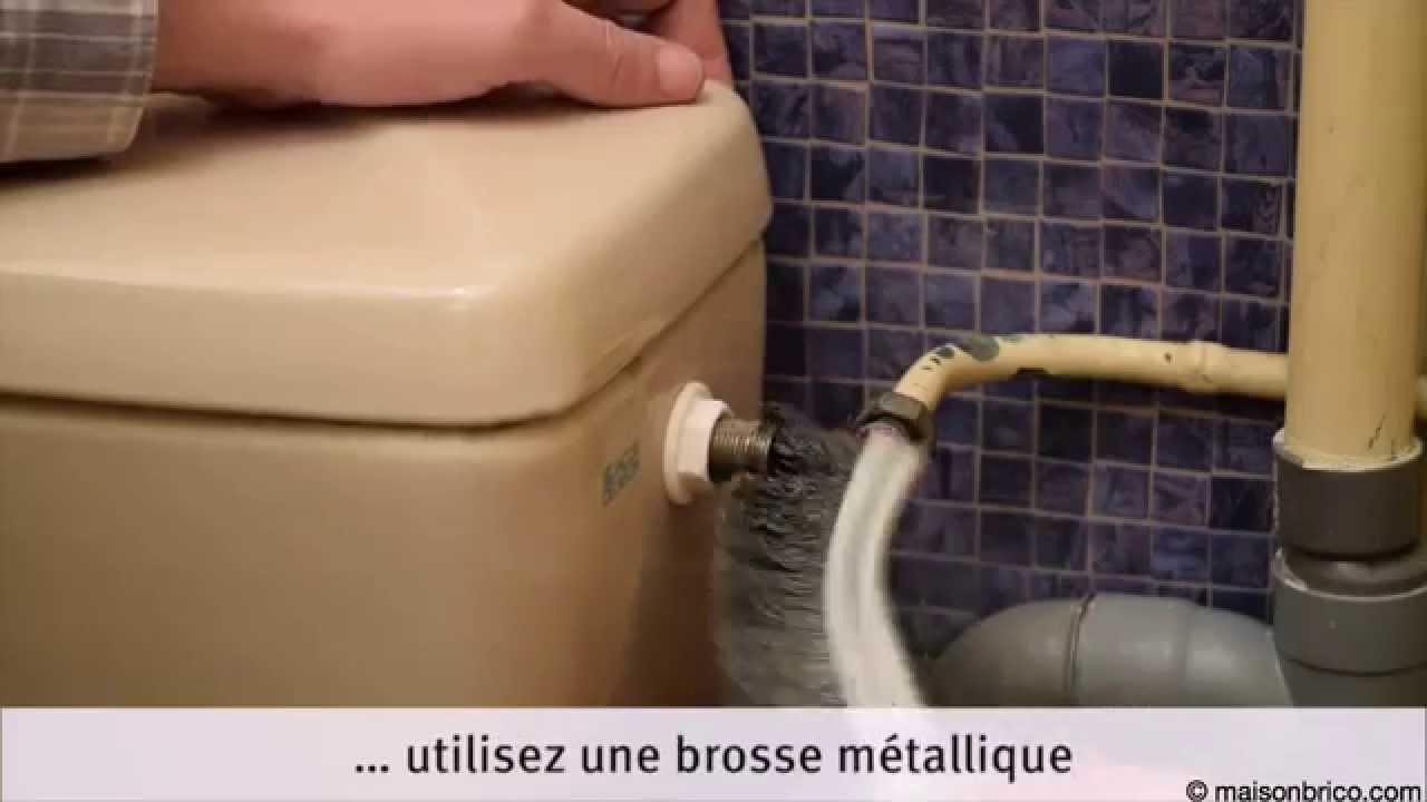 Robinet Chasse D Eau Qui Fuit intérieur remplacer le robinet d'arrêt d'une chasse d'eau - youtube