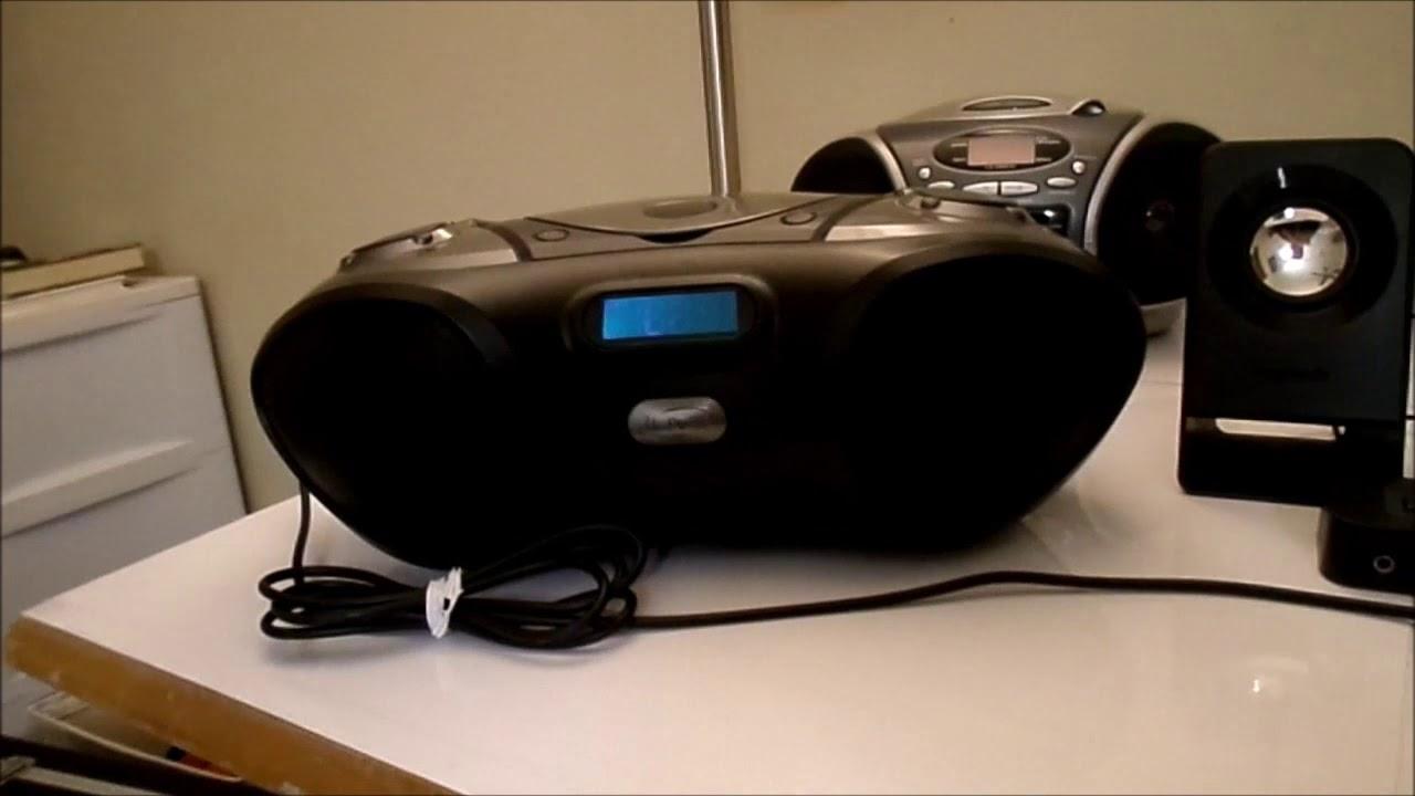 Download iLIVE blue IBC233B CD Radio Bluetooth boombox
