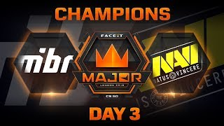 MiBR vs NaVi - Dust 2 (FACEIT Major: London 2018)