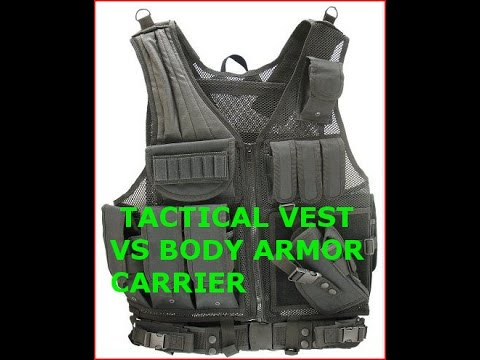 LOAD OUT TACTICAL VEST VS BODY ARMOR FOR SHTF, WROL, ECONOMIC COLLAPSE