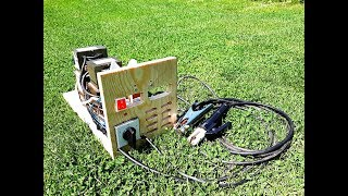 DIY WELDING MACHINE USING 5 MICROWAVE TRANSFORMERS
