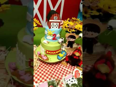 Sahannas 2nd Birthday 2018 Farm Theme