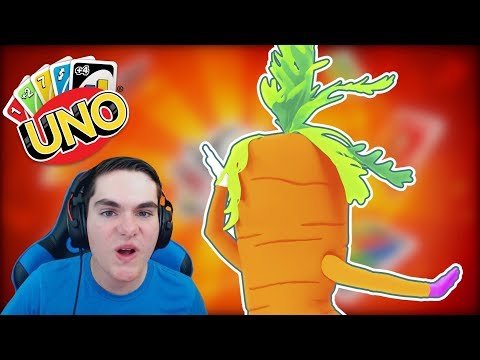 I WANT TO EAT A CARROT!! Uno With Friends