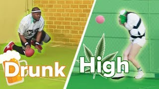 High Vs. Drunk Dodgeball