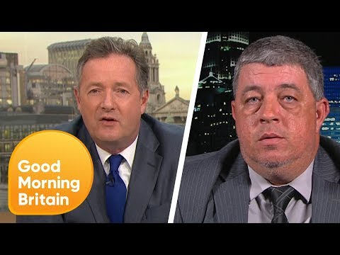 Piers Challenges NRA Member About US Gun Laws   Good Morning Britain