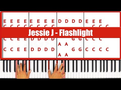 Flashlight Jessie J Piano Tutorial - EASY