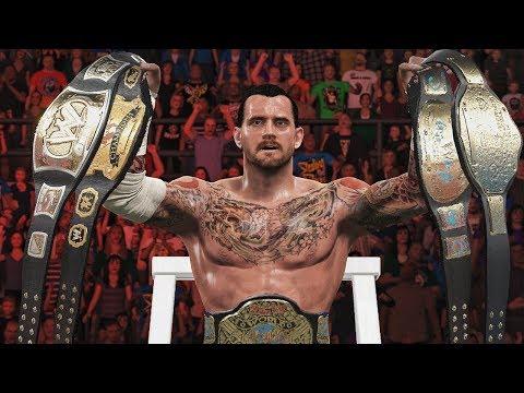 All Of CM Punk 8 Titles Wins In WWE! (WWE 2K17/WWE 2K16 /WWE 2K15)