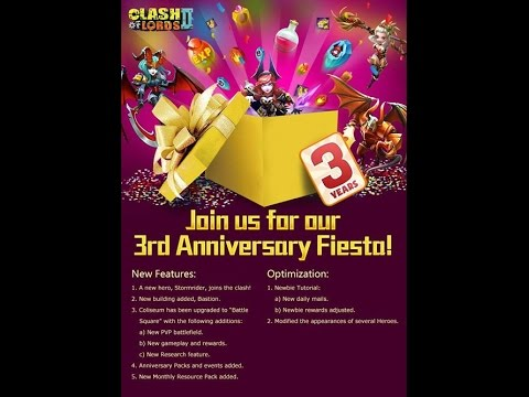Clash of Lords 2 - New Update Stormrider Bastion Battle Square PVP Birthday Rewards March 2nd 2017