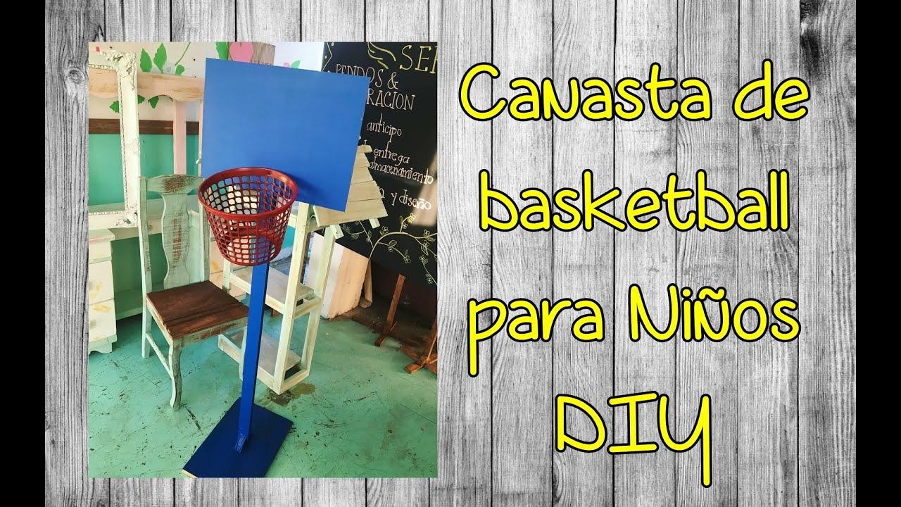 Canasta de basketball para ni os diy youtube - Paredes pintadas para ninos ...