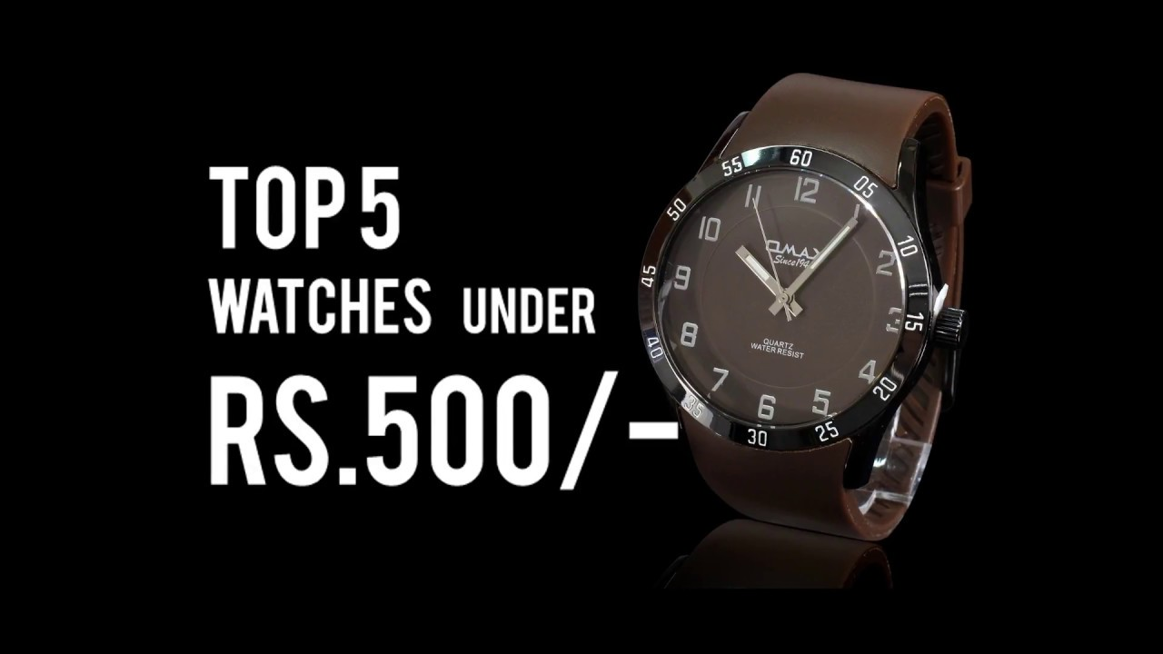 5 Coolest Watches for Men Under Rs 500/- from Amazon in by Unkown Facts