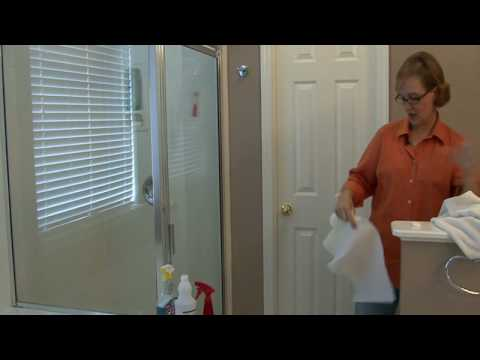 Bathroom Cleaning Tips : How to Clean Glass Shower Doors