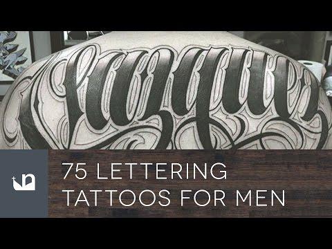 75 Lettering Tattoos For Men
