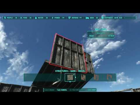Far Harbor BARN Tutorial - Every Piece Explained - Fallout 4 Settlement Building