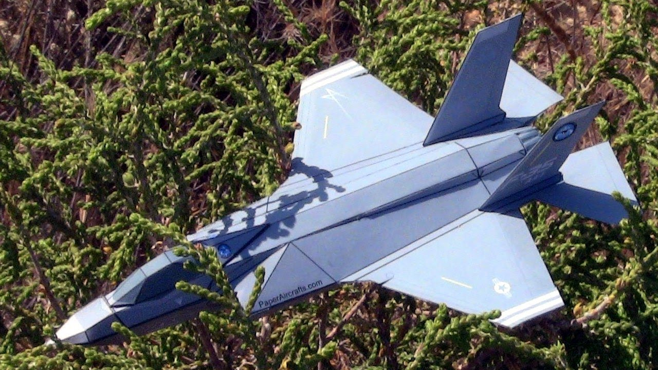 How to make an F-35A Paper airplane 3D model - YouTube