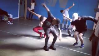 Tekno Practicing dance step for his latest video