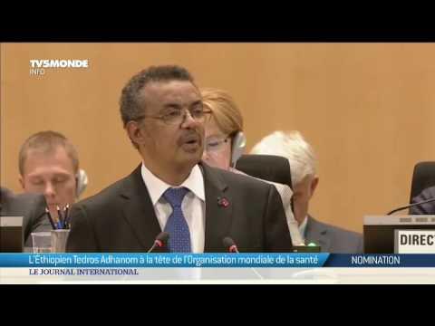 L'Ethiopien Tedros Adhanom à la tête de l'OMS