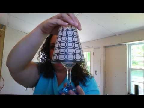 Dollar Tree Wine Glass Lamp Shade DIY / Review