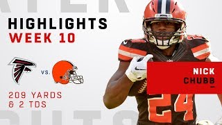 Nick Chubb Highlights w/ Longest Browns Rush of All-Time vs. Falcons