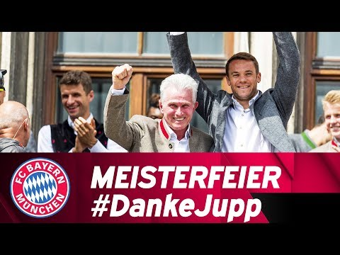 Verabschiedung & Meisterfeier am Marienplatz #DankeJupp