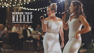 Best wedding toast ever! • Bride's sisters rock mashup at Chicago wedding