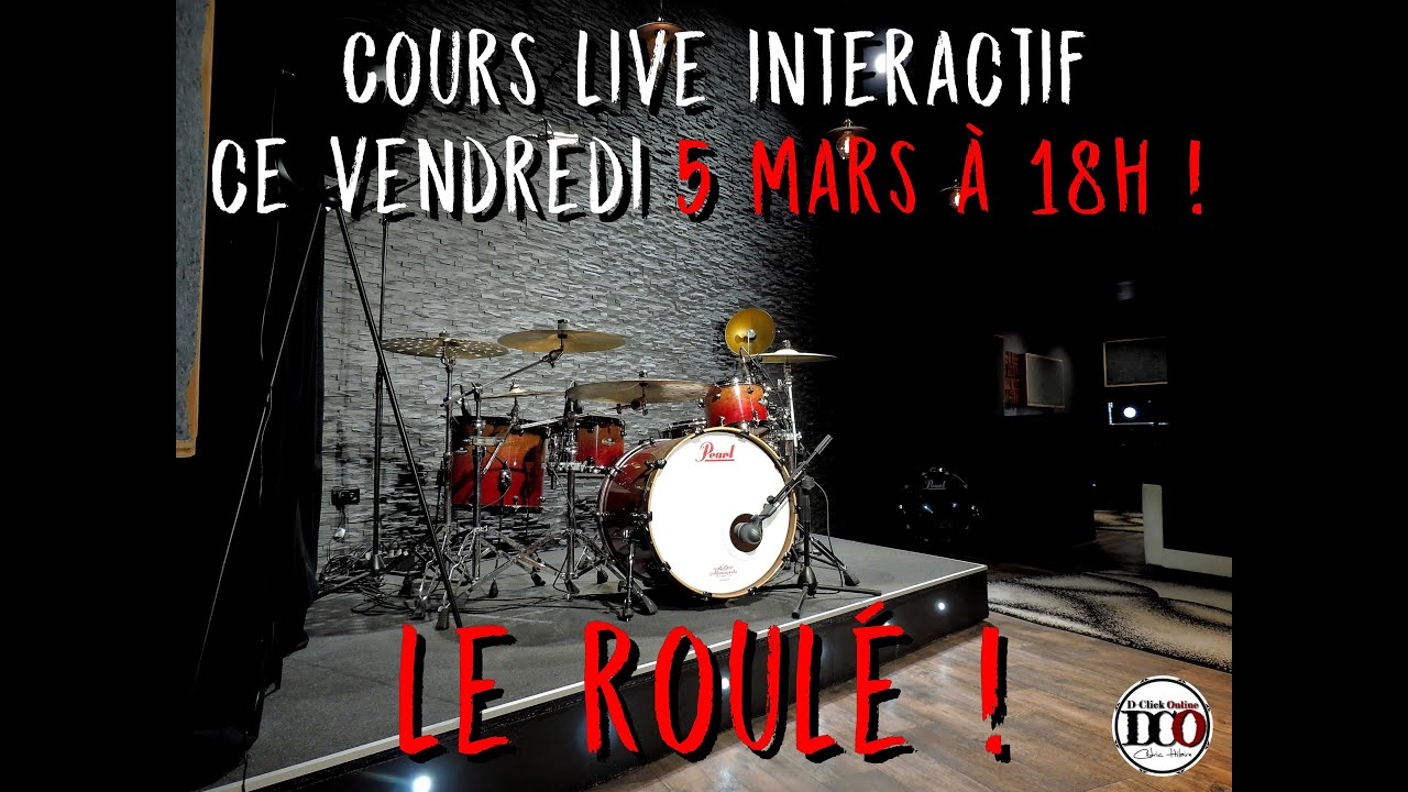 RDV ce vendredi 5 mars à 18h pour un cours live interactif sur le roulé !