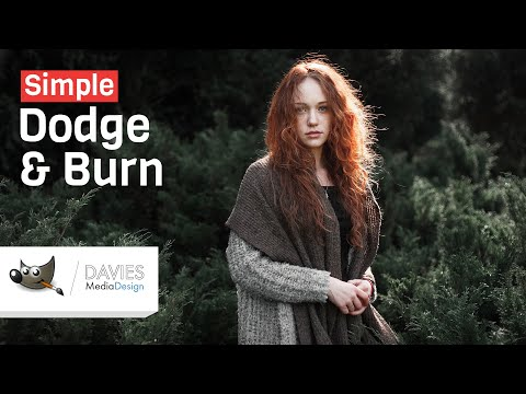 Simple Dodge & Burn in GIMP 2.10