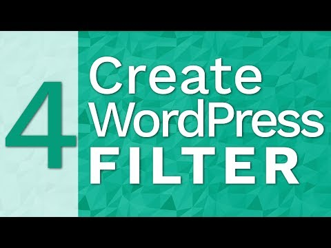 Filtering wordpress