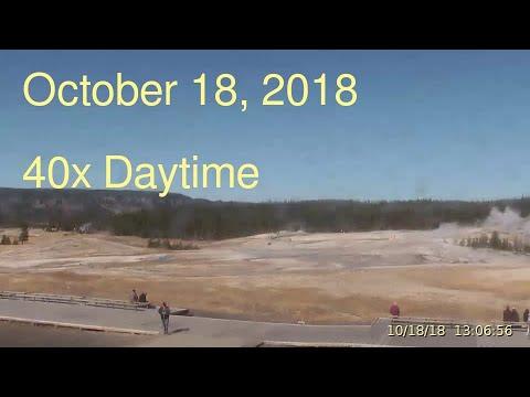 October 18, 2018 Upper Geyser Basin Daytime Streaming Camera Captures