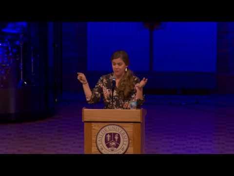 Taylor University Chapel  021317  World Opportunities Week  Amy Peterson