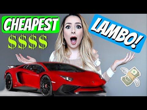I BUY THE CHEAPEST CAR FROM LAMBORGHINI!!