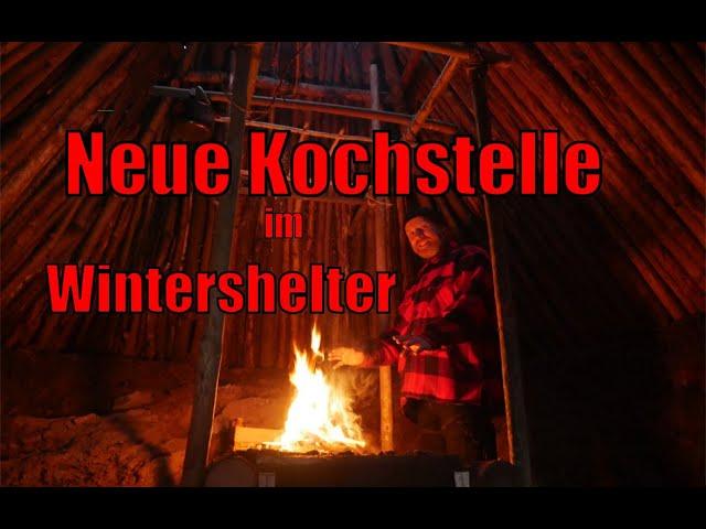 Neue Kochstelle im WinterShelter