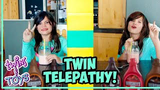 Twin Telepathy Milkshake Challenge! With Kate and Lilly!