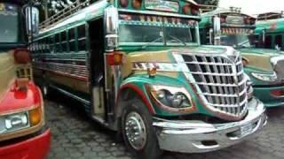 Guatemala Chiken bus terminal