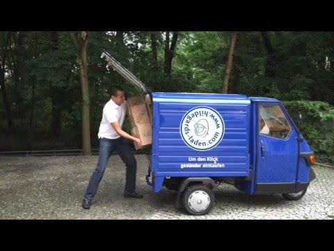 Unsere Piaggio Ape 50 Lieferbiene schafft (fast) alles!