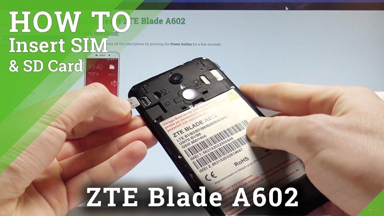 Micro Sd Karte Handy.How To Insert Nano Sim And Micro Sd In Zte Blade A602 Hardreset Info