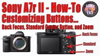 Sony A7r II - Customizing Buttons - Back Button Focus, Standard Center Button, and Zoom