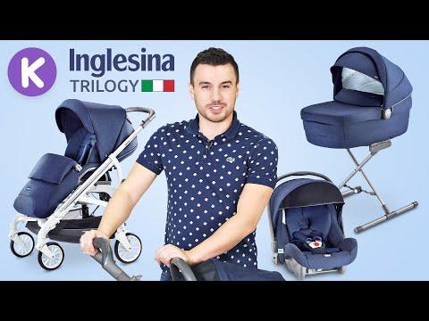 Inglesina Trilogy - итальянская коляска 4 в 1. Видео обзор премиум коляски Инглесина Трилоджи.