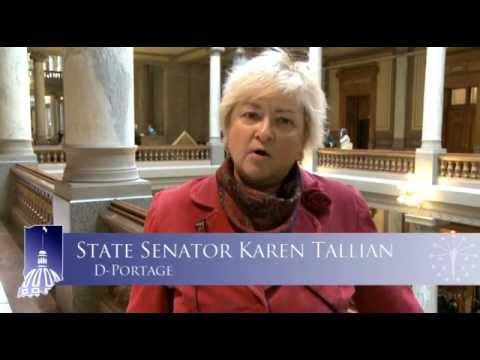 Senator Tallian reports on bills affecting Dunes State Park, Little Calumet River