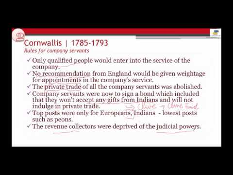 Governor Generals Cornwallis : History of India
