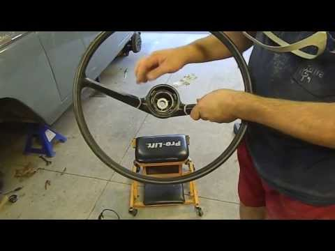 How to Restore a Classic Car Steering Wheel - hard plastic type