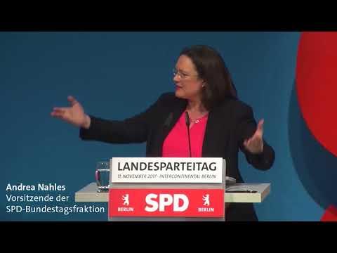 Andrea Nahles auf dem Landesparteitag Berlin