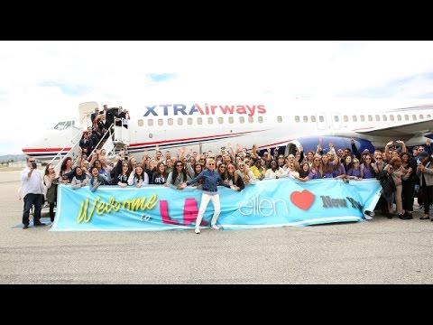 Ellen's Getaway NY to L.A.!