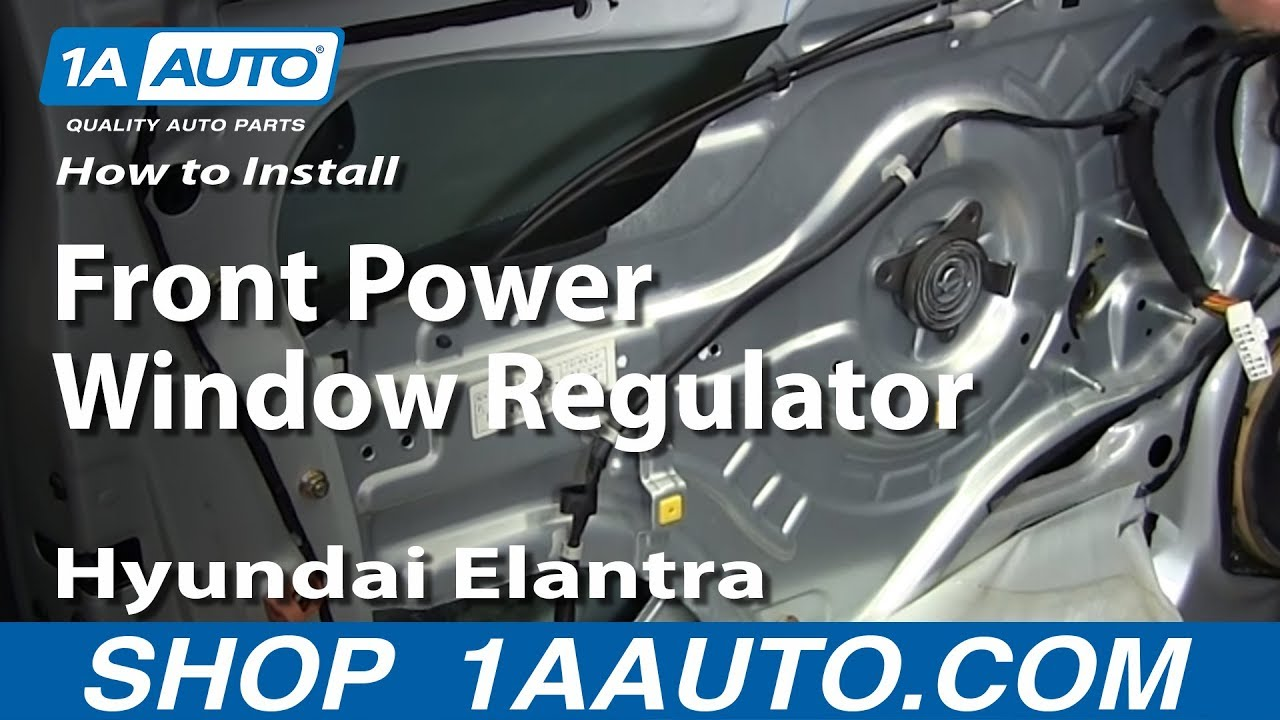 How To Install Replace Front Power Window Regulator 200106 Hyundai Elantra  YouTube