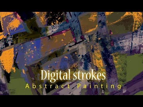 Abstract Art| Digital Painting | how to make digital art | creative art | landscape | Painting